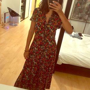 Floral print Zara Woman maxi dress